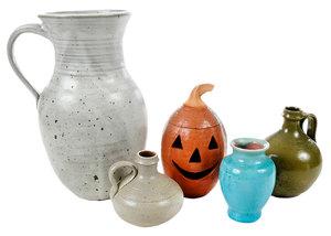 Five Pieces North Carolina Pottery