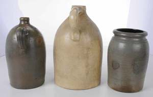 Three Pieces of Stoneware