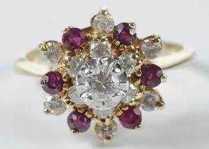 14kt. Diamond & Ruby Ring