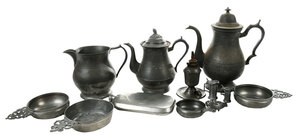 Twelve Assorted  Pewter Items