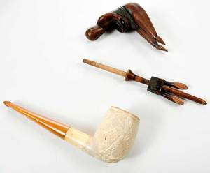 Two Carved Pipes