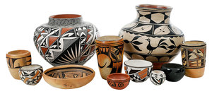 11 Pieces Southwestern Pottery