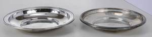 Two Sterling Round Shallow Bowls
