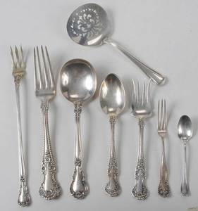 17 Pieces Sterling Flatware