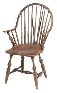 Continuous Arm Brace Back Windsor Arm Chair