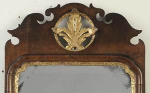 Queen Anne Parcel Gilt Walnut Mirror