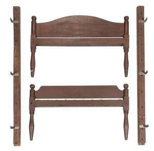 Federal Red Painted Birchwood Bedstead