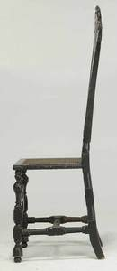 William And Mary Black Painted Side Chair