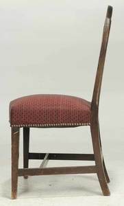 New England Federal Carved Mahogany Side Chair