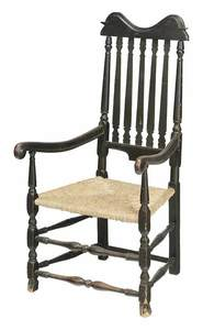 William and Mary Bannister Back Arm Chair