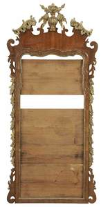 Chippendale Walnut and Parcel Gilt Mirror Frame
