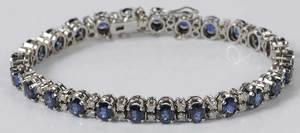 18kt. Sapphire & Diamond Bracelet