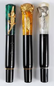 Set of Three Delta 'Animals' Fountain Pens