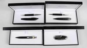 Four Jorg Hysek Pens & Knife