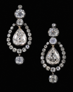 Rare 21 Carat Antique Diamond Earrings
