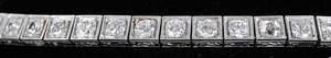 Vintage Platinum & Diamond Line Bracelet