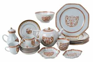 18 Piece Partial Set of Chinese Export Porcelain