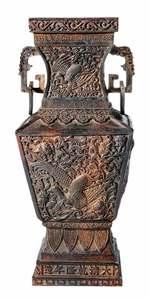 Chinese Bronze Phoenix Vase