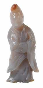 Hardstone Carved Figure of Man in Robes