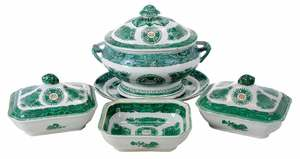 Four Chinese Export Fitzhugh Tureens