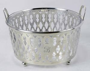 Tiffany Sterling Basket with Glass Insert