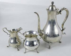 Three Pieces Sterling Coffee Set