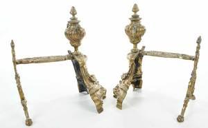 Pair Louis XV Style Andirons
