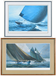 Two Frank Wagner Contemporary Sailing Prints