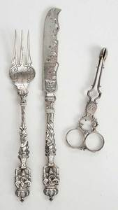 Three Continental and English Silver Flatware
