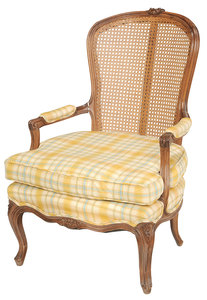 Louis XV Style Cane Backed Fauteuil