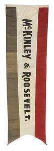 McKinley & Theodore Roosevelt Campaign Banner