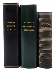 Three Leather Reference Books