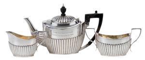 Three Piece English Silver Tea Service