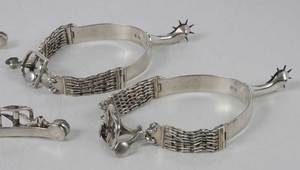 Two Pairs George III English Silver Spurs