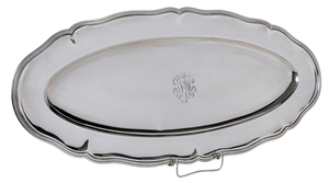 Large Oval Sterling Tray