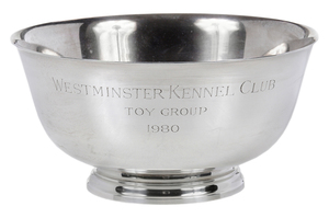 Tiffany Sterling Dog Trophy Bowl