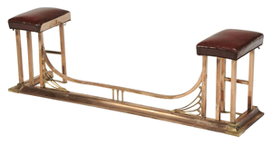 Copper, Brass and Leather Upholstered Coachman