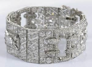 Art Deco Platinum & Diamond Bracelet
