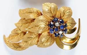 18kt. Sapphire & Diamond Earclips