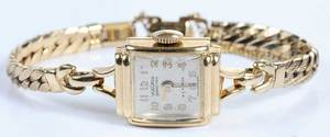 14kt. Lady's Watch & Silver Comb