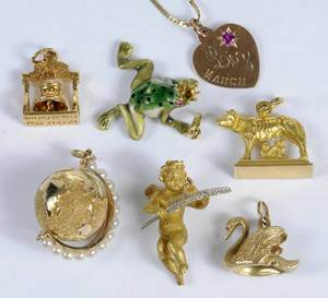 Seven Gold Charms