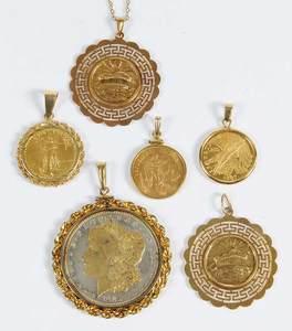 Six Coin/Medallion Pendants