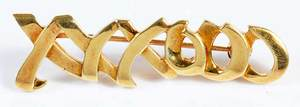 Paloma Picasso, Tiffany & Co. 18kt. Brooch