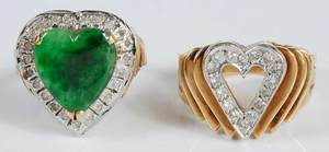 Two 14kt. Diamond Rings