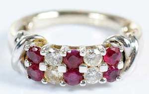 18kt. Diamond & Ruby Ring