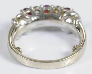 18kt. Diamond & Ruby Ring