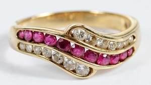 14kt. Diamond & Ruby Ring