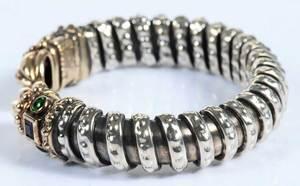 14kt., Silver & Gemstone Cuff Bracelet