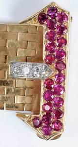 Retro 14kt. Diamond Bracelet