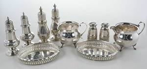 Ten Sterling Table Items